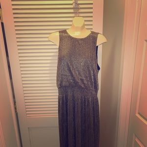 Metallic High-Low Dress ( Gold Mix )